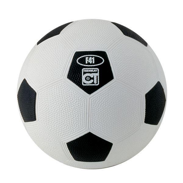 Ballon football caoutchouc taille 3 blanc/Noir