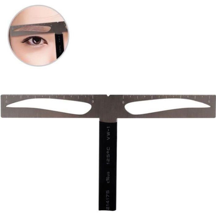 Règle de pochoir à sourcils professionnelle Kit de positionnement d'équilibre à trois SOIN DES CILS - SOURCILS - COLORATION