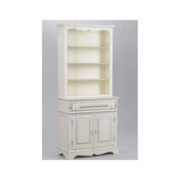 vaisselier bois blanc patin et gris shabby di achat vente vitrine argentier vaisselier. Black Bedroom Furniture Sets. Home Design Ideas