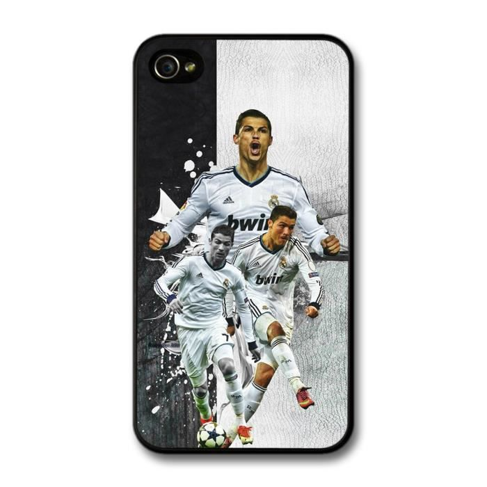 Cristiano ronaldo collage real madrid cf football coque pour iphone 4 4s achat housse tui - Housse de couette cristiano ronaldo ...