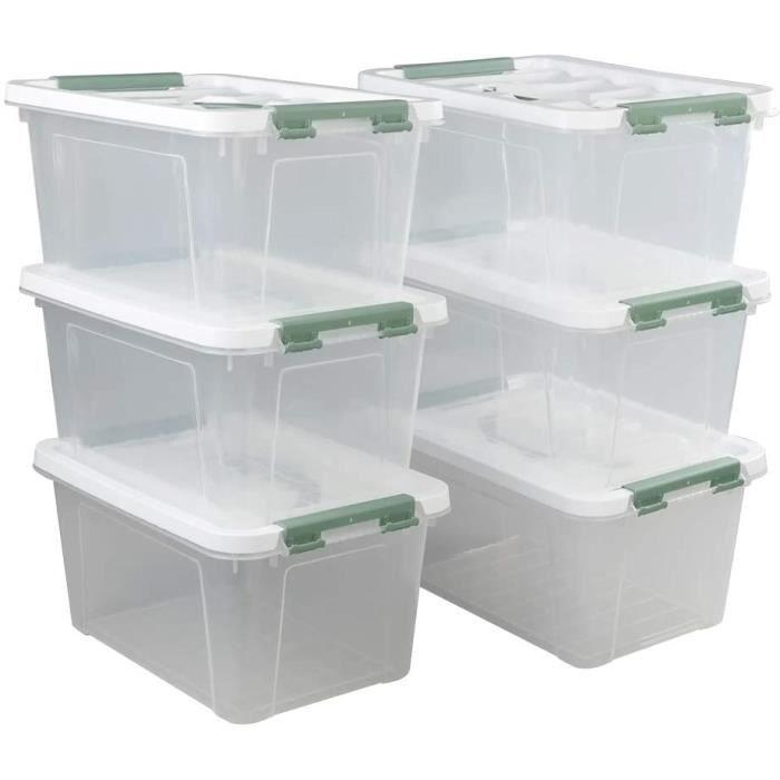 Ikando Caisse Boites De Rangement En Plastique Transparente Lot De 6 Achat Vente Boite De Rangement Ikando Caisse Boites De Ran Cdiscount