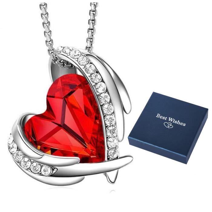 VALENTINE Rouge Zircone cubique Diable Cœur Forme Cubique Zircone Clous Boucle d/'oreille Argent Sterling