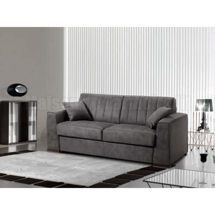 canap convertible abigor rapido gris largeur achat vente canap sofa divan. Black Bedroom Furniture Sets. Home Design Ideas