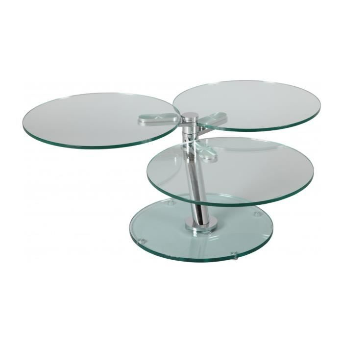 Table basse ronde articul e 3 plateaux verre achat vente table basse tabl - But table basse ronde ...