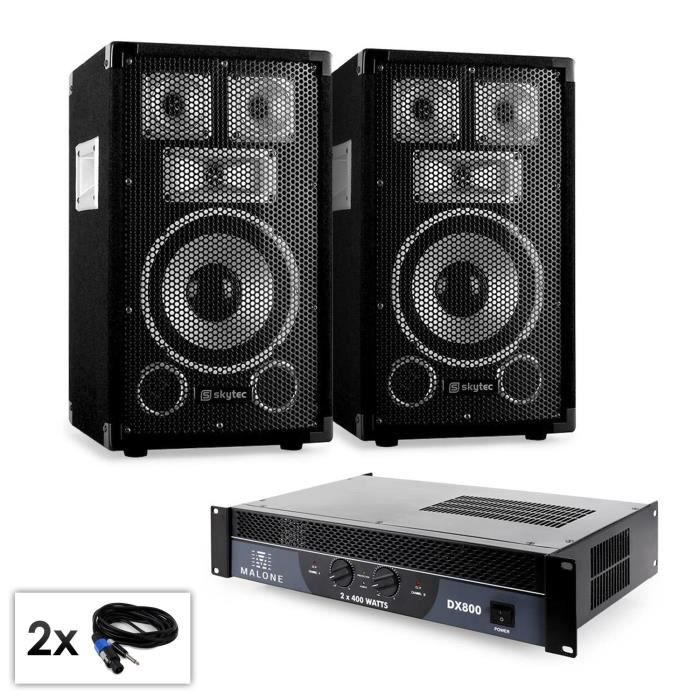 electronic star pack sono complet pour dj pro disco 2x enceinte pa subwoofer 25cm ampli. Black Bedroom Furniture Sets. Home Design Ideas