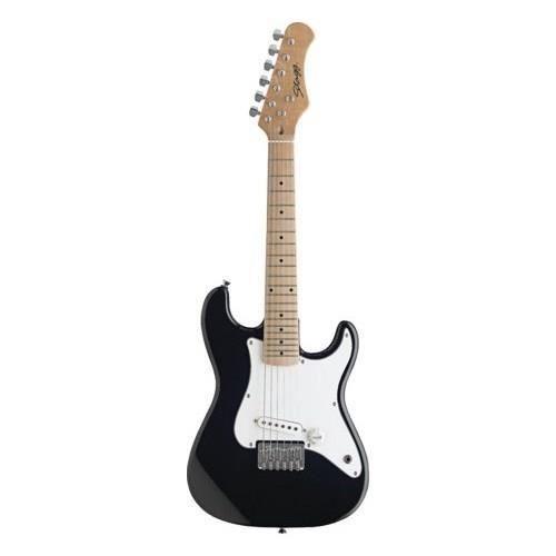 STAGG Guitare Electrique Junior S Noir