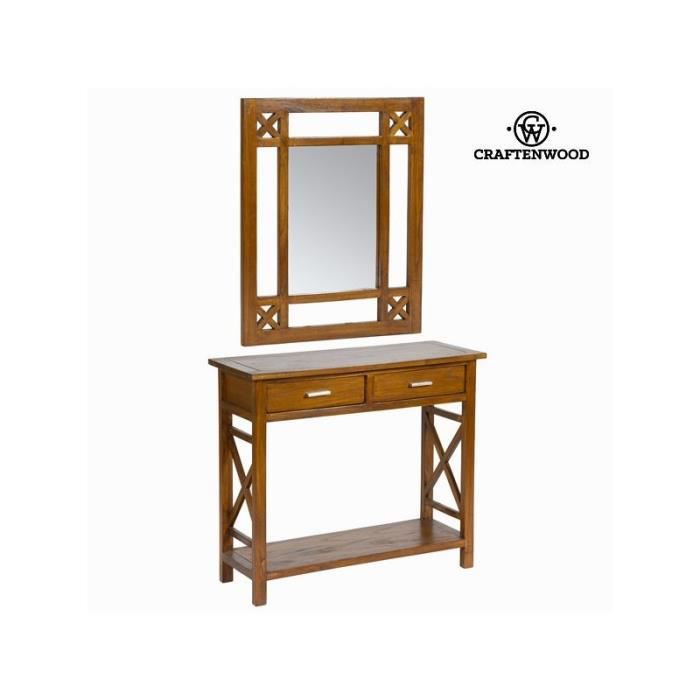 Meuble d 39 entr e rustique avec miroir collection serious for Collection miroir