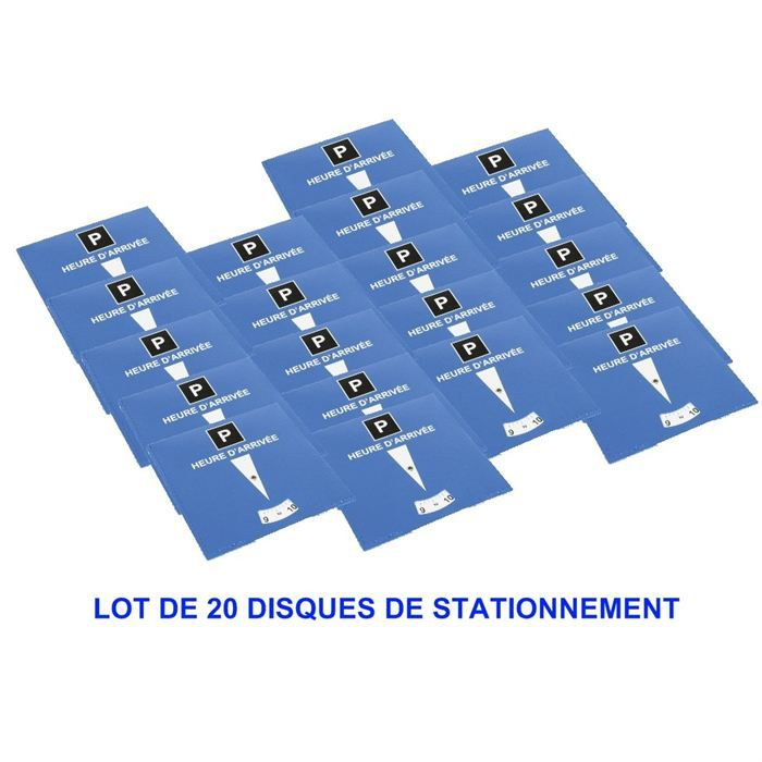 20 disques stationnement zone bleue achat vente adh sif signalisation 20 disques. Black Bedroom Furniture Sets. Home Design Ideas