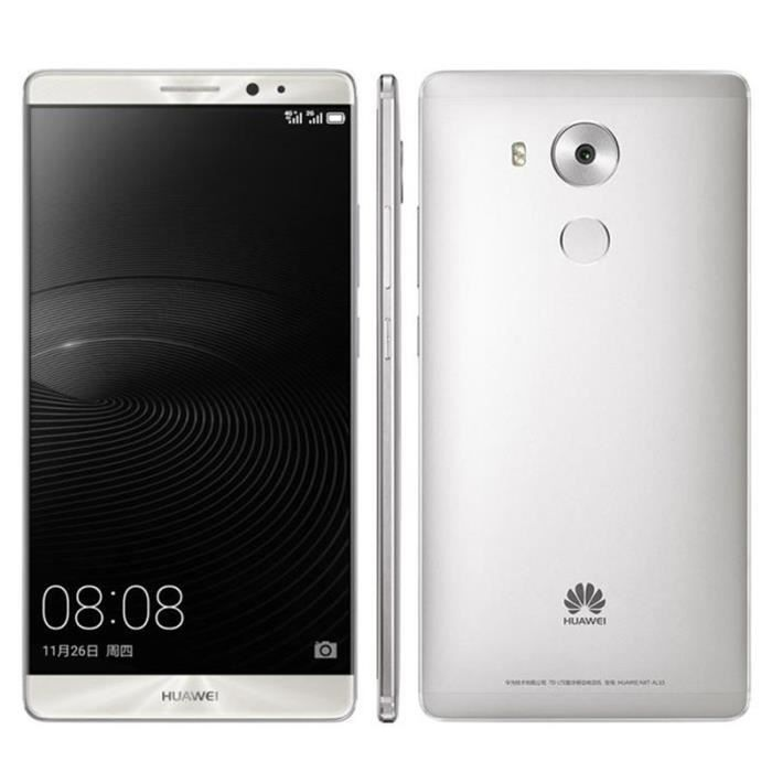 huawei mate 8 smartphone 32gb d bloqu 4g double sim android 6 0 argent achat smartphone pas. Black Bedroom Furniture Sets. Home Design Ideas