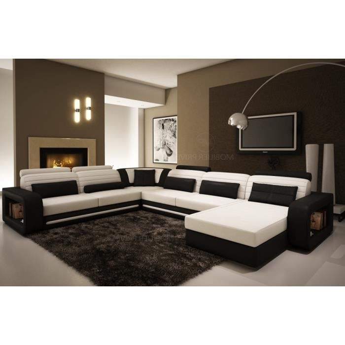 canap d 39 angle en cuir italien 8 places atlanta et achat vente canap sofa divan. Black Bedroom Furniture Sets. Home Design Ideas