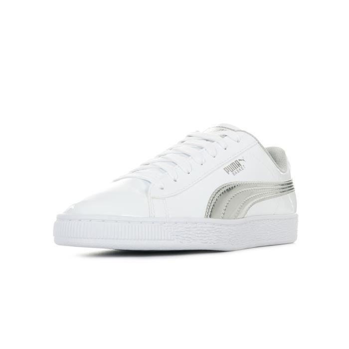 puma basket classic blanche et argent