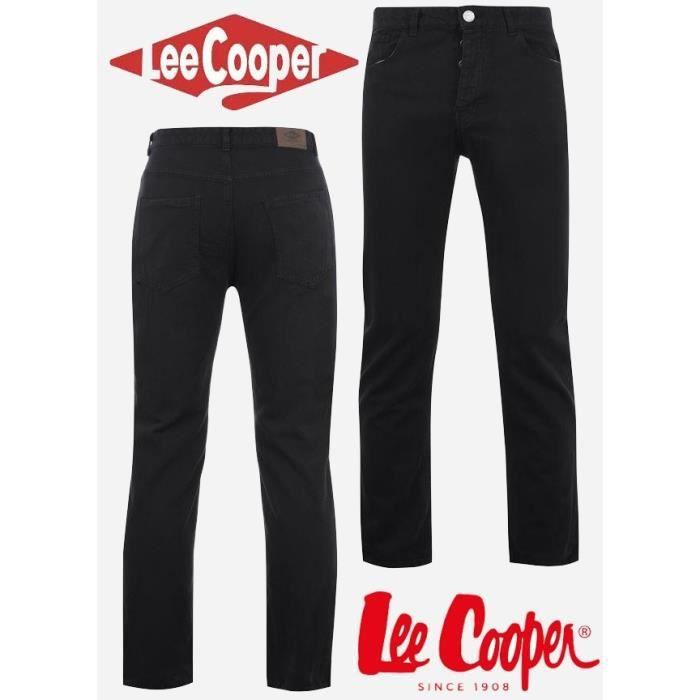 JEANS Jean Homme Lee Cooper Noir du 40 au 50