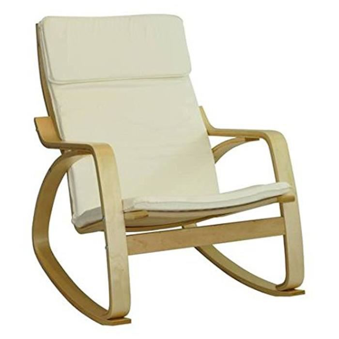 rocking chair bjorn en cru l67 x h87 x p89 cm achat vente chaise beige cdiscount. Black Bedroom Furniture Sets. Home Design Ideas