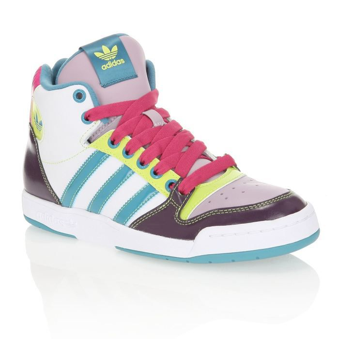 adidas baskets midiru court femme femme blanc vert jaune rose et prune achat vente adidas. Black Bedroom Furniture Sets. Home Design Ideas