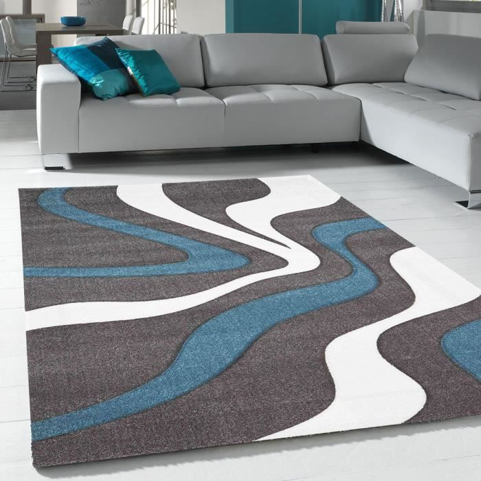 tapis gris bleu achat vente tapis gris bleu pas cher. Black Bedroom Furniture Sets. Home Design Ideas