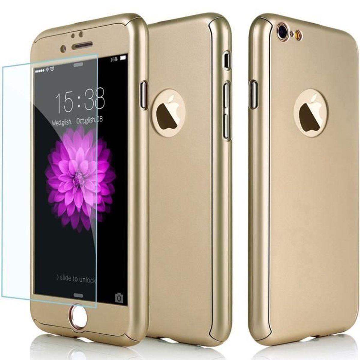 case coque iphone 7 integrale or gold full 1 ver