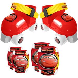 CARS Set Patins ? Roulettes ajustables 23 ? 27 et Protections