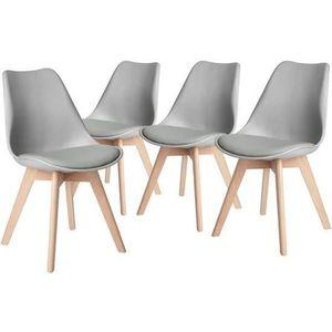 CHAISE HJ Lot de 4 chaises de salle à manger style contem
