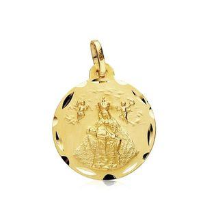 PENDENTIF VENDU SEUL Médaille pendentif Or 18 carats 18mm Vierge de l'A