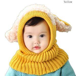 CHAPEAU - BOB RHOD Jaune Bonnet écharpe hiver enfant fille bébé