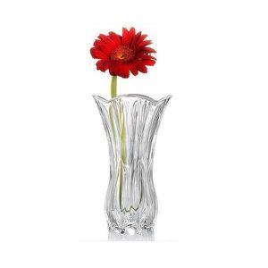 VASE - SOLIFLORE Vase en verre ciselé - 25 cm