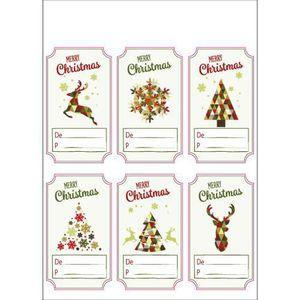 ETIQUETTE CADEAU Planches etiquettes cadeaux de noël - Lot de 2 pla