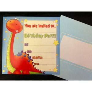 Fête D/'Anniversaire Invitations Jurassic World//Dinosaures-T Rex X 8 épais cartes