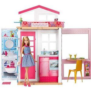 POUPÉE Barbie Mobilier coffret maison 2 étages et 4 pièce