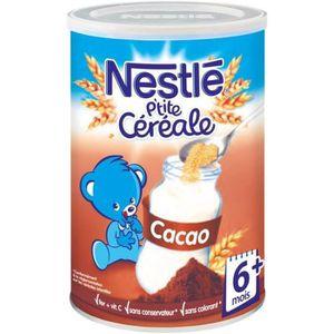 CÉRÉALES BÉBÉ [LOT DE 3] NESTLÉ P'tite Céréale Cacao - 400 g - D