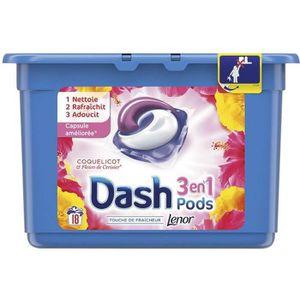 LESSIVE Dash 2en1 caps x18 coquelicot et fleur de cerisier