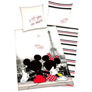 HOUSSE DE COUETTE ET TAIES Parure de lit enfant Mickey Minnie