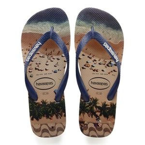 TONG Tongs homme HAVAIANAS, Hype beige impression photo