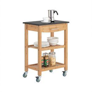 DESSERTE - BILLOT SoBuy® FKW28-SCH Chariot de cuisine de service rou