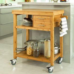 DESSERTE - BILLOT SoBuy® FKW26-N Meuble rangement cuisine roulant en