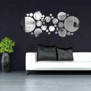 STICKERS TEMPSA 30Pcs 3D Cercle Autocollant Sticker Miroir
