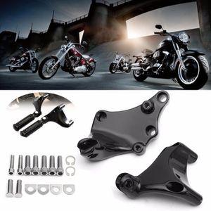 CNC Passager Arrière Appui-pieds Supports pour Harley Sportster XL 883 1200 2004-2013