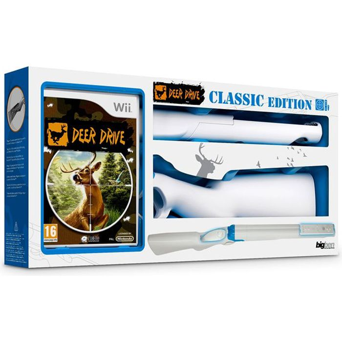pack deer drive fusil blanc jeu console wii achat vente jeux wii deer drive fusil. Black Bedroom Furniture Sets. Home Design Ideas