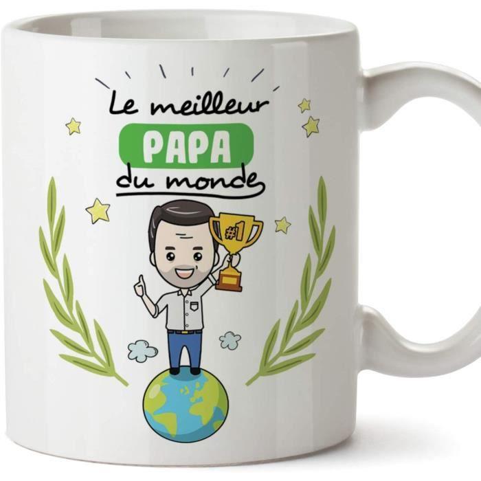 Papa Tasse - Mug - Le Papa du Monde - Tasse Originale - Idee Fête des Pères - Cadeau Anniversaire - Future Papa. Céramique 350 ML 1