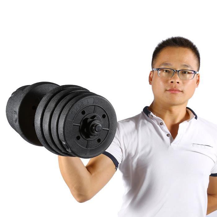 30 kg haltères mis en forme gym poids biceps triceps poids libres formation -KEL