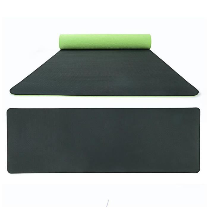 Non-Slip Yoga Double Couleur Mat TPE Eco Friendly Sports de plein air Fitness Mat Produit de yoga 41