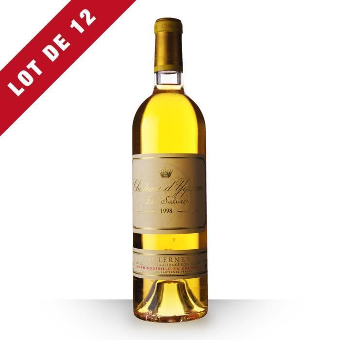 12X Château d'Yquem 1998 Blanc 75cl AOC Sauternes - Vin Blanc