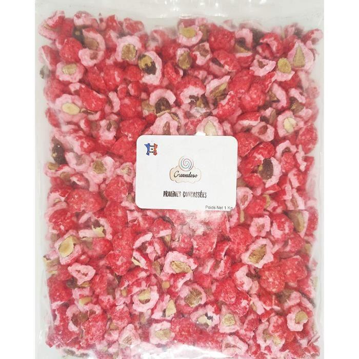 Pralines Roses 1Kg Concassées Amandes , Fabrication Artisanale Française pour Pâtisseries : Brioches, Tartes.