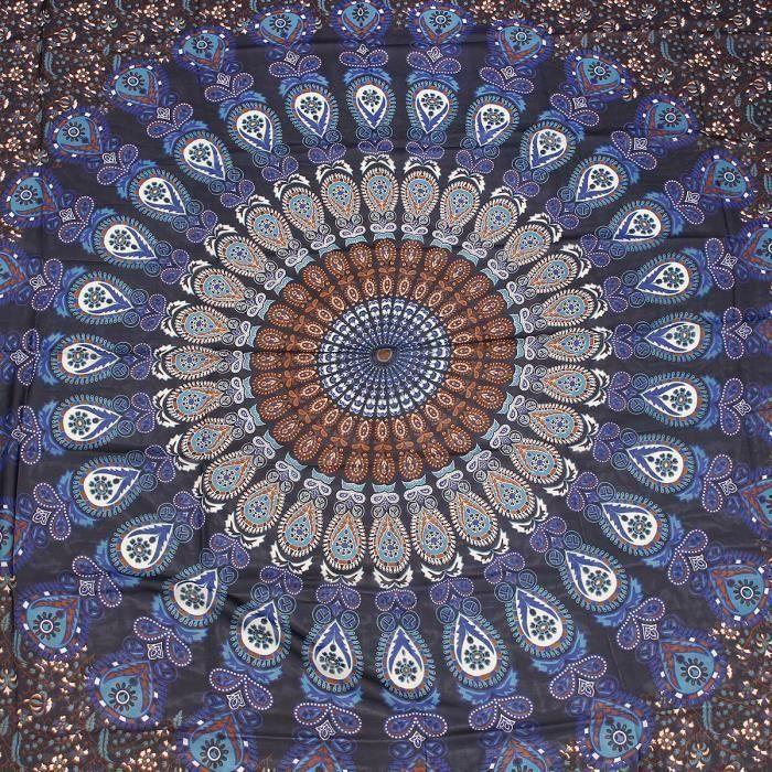 Tenture Murale Tapisserie Mandala Bohémienne Style Hippie Couvre-Lit Drap De Plage TYPE B FR13890