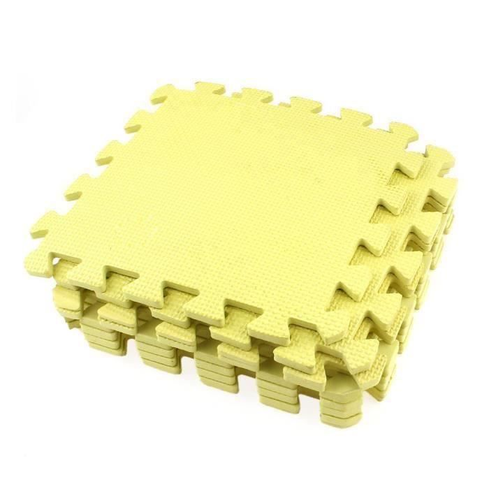 9x matte de casse-tete jaune EVA Tapis de protection Tapis de fitness Tapis de sol 28 x 28 x 0.8 cm