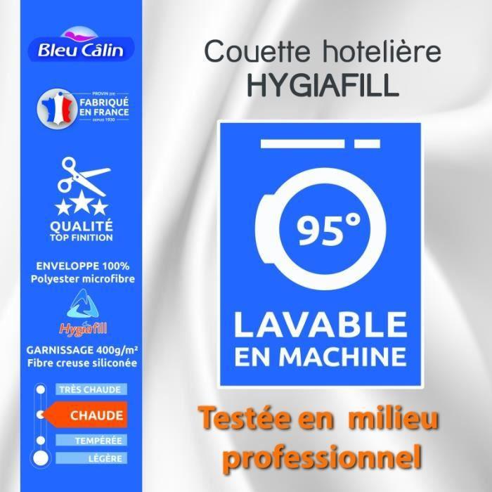 Couette Hotelière Hygiafill 220 x 240 cm pour lit 2 places 140 x 190 cm à 160 x 200 cm