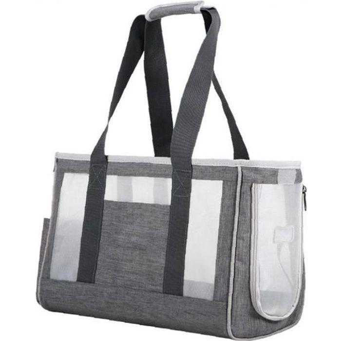 Sacs pliables pour sacs de porteurs de chien portables sac de porteur d'animaux portables avec tapis amovible et compagnie aérienne