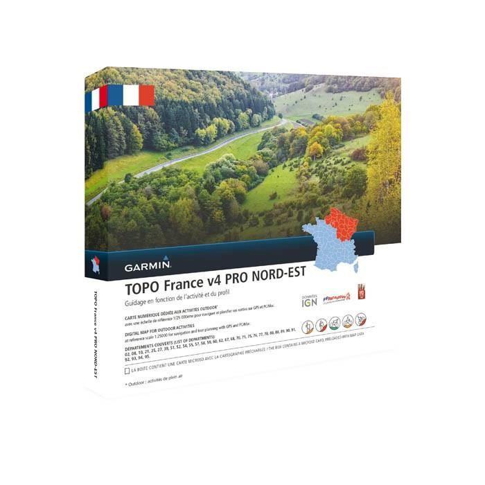 GARMIN Carte Topo France V5 Nord-Est Pro