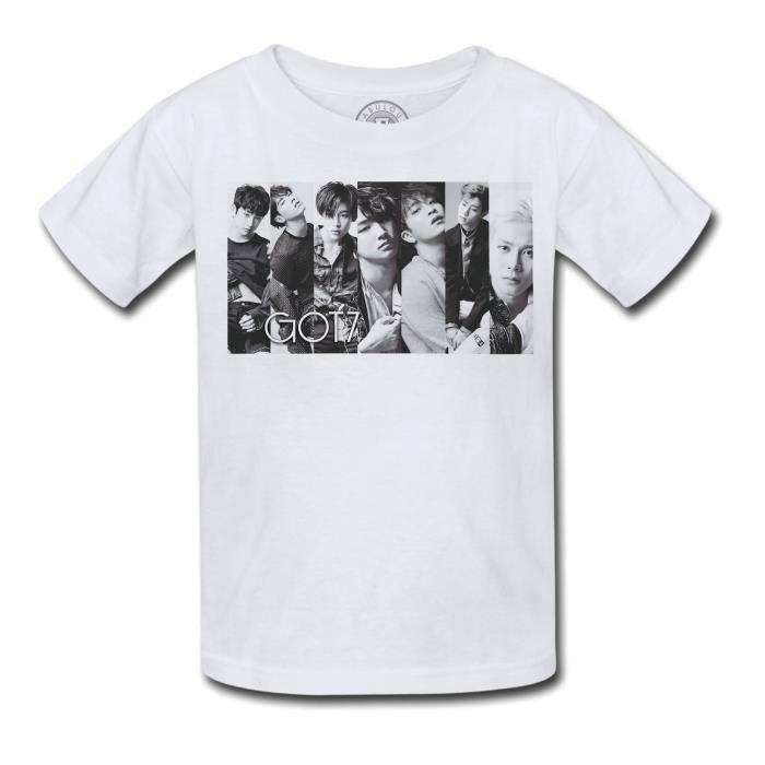 T-shirt Enfant Got 7 Boys Band Kpop Stars Coree Noir & Blanc