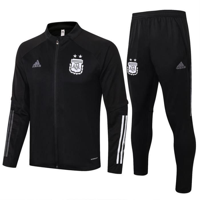 Ensemble Survêtement Argentine - Maillot de Foot Enfants Homme 2020-21 Ensemble Survêtement Jogging Vêtements de Football