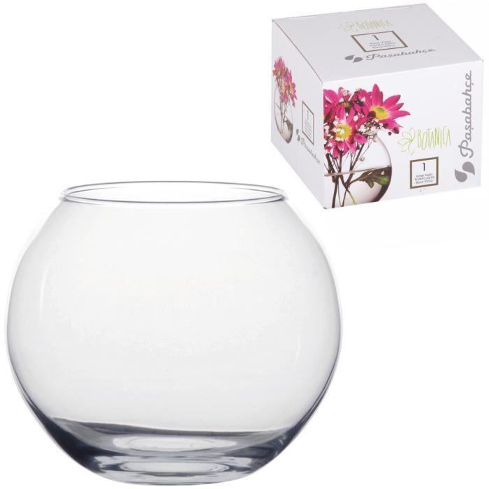 Vase Tendance En Verre Aspect Cristal design Forme Ronde Bouquet De Fleurs